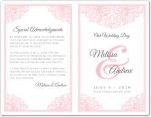 wedding program sle templates bi fold wedding invitation templates wedding invitation