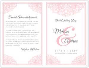 Sle Wedding Program Templates by Bi Fold Wedding Invitation Templates Wedding Invitation