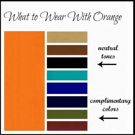 colors that go with orange what to wear with orange color moda pinterest