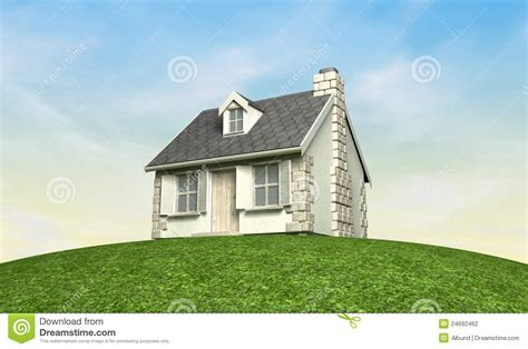 Cottage On A Hill by Cottage On A Hill Stock Photography Image 24692462