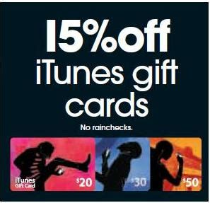 Target Itunes Gift Card Sale - 15 off itunes gift cards at target until 10 march gift cards on sale