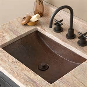 Rectangular Undermount Bathroom Sink Avila Copper Bathroom Sink Native Trails