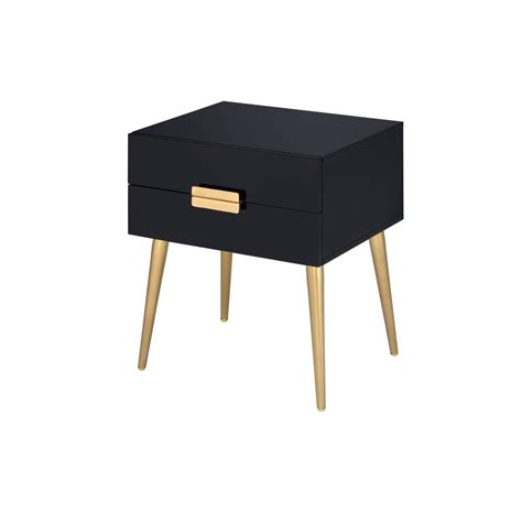 black and gold table safavieh riona gold and black glass top end table fox2539b