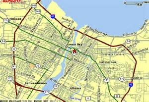 green bay map green bay wi