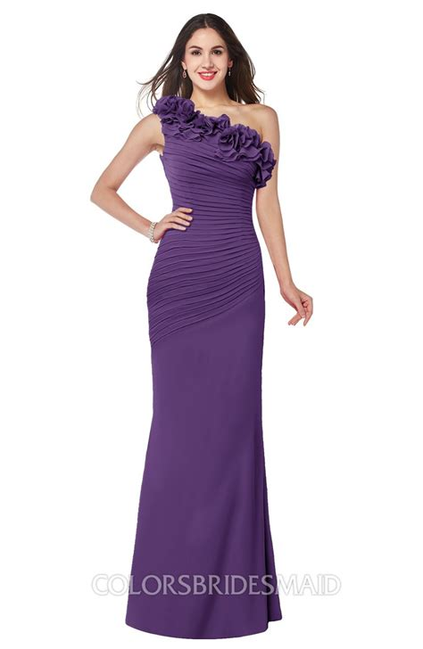 Bridesmaid Dresses To Fit All Sizes - purple fit n flare sleeveless half backless