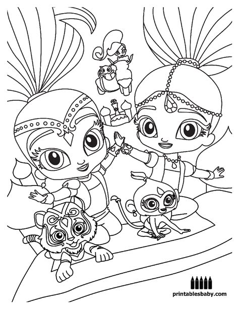 shimmer and shine coloring pages nick jr nick jr shimmer and shine coloring pages birthday sketch
