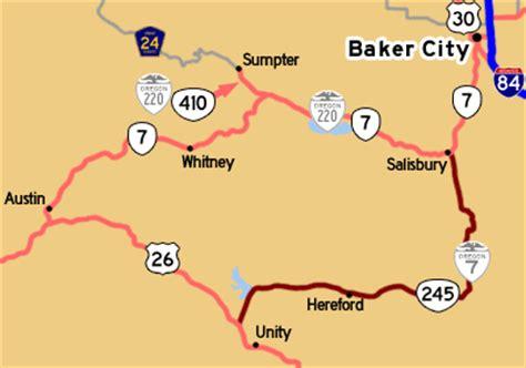 map of unity oregon oroads oregon route 7