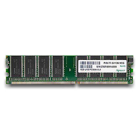 Hp Acer 1gb ddr400 memorija apacer pc3200 1gb hynix chip 77 g1136