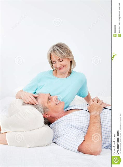 man and woman sexuality in bedroom senior man and woman in bedroom stock image image of