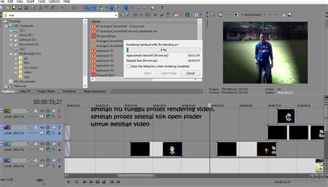 Tutorial Edit Video Di Sony Vegas | instalasi sony vegas pro 9 0 dan tutorial tutorial editing