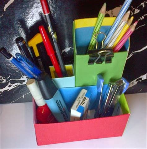 cara membuat kerajinan tangan kotak pensil cara membuat prakarya kotak pensil