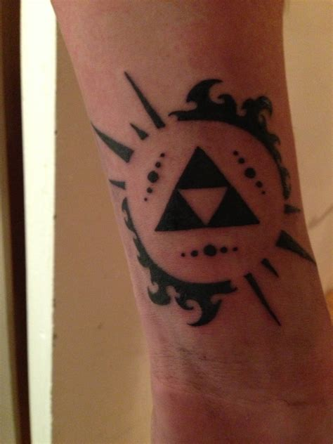 triforce tattoo designs new the triforce from legend of by
