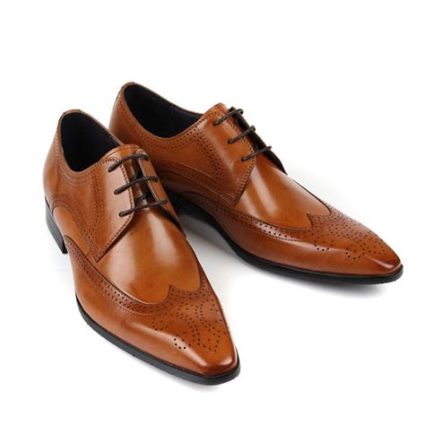 Sepatu Azcost Derby Formal Leather customized made s color pointed toe derby leather brogue shoes dress formal