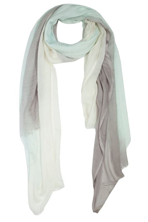 mint grey ombre scarf