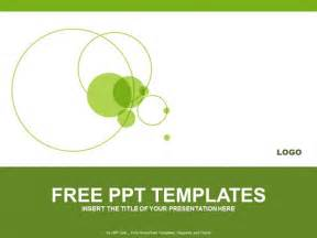 free ppt template green circle powerpoint templates design free