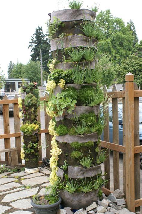 Organic Vertical Gardening Organic Column Vertical Garden Vertical
