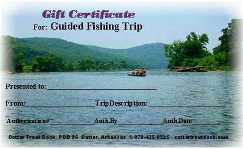 arkansas trout fishing gift certificate for our guided