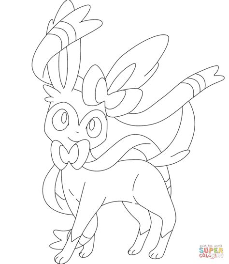 pokemon coloring pages sylveon pokemon sylveon coloring pages cartoon best photos of
