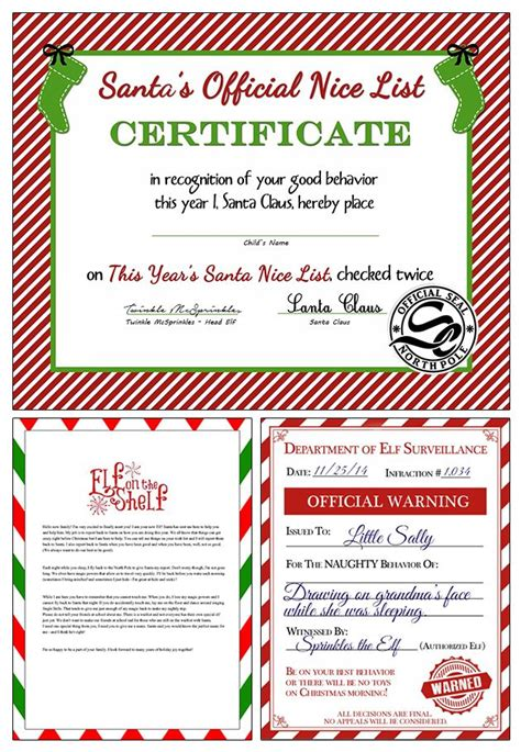 free printable elf on the shelf warning letter free elf on the shelf printables for christmas
