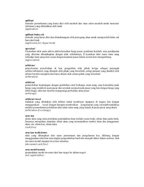 kamus perbankan bank indonesia 1999