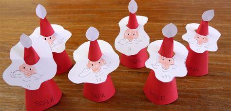 Basteln Grundschule Weihnachten 3041 weihnachtsmann platzkarten mit kindern basteln