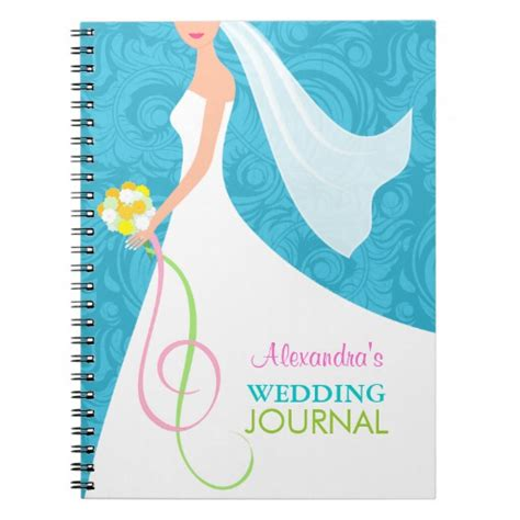 Wedding Planner Journal by Something Blue Damask Wedding Planner Journal Spiral Note