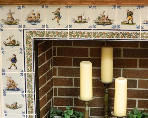european delft tile fireplace traditional family room