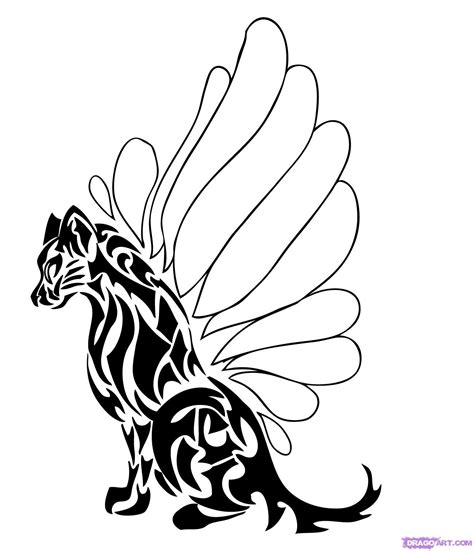 How To Draw Tribal Animals Art Step By Step Tribal Art Pop Culture Free Online Drawing Animal Pictures For To Draw