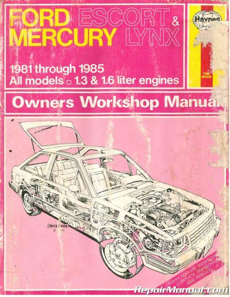 service manual ac repair manual 1984 mercury lynx 1984 ford escort gt exp lynx electrical haynes ford escort and mercury lynx automotive repair manual 1981 1985 used