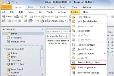 outlook 2010 tutorial recovering deleted items microsoft c 243 mo recuperar mensajes de correo electr 243 nico eliminados