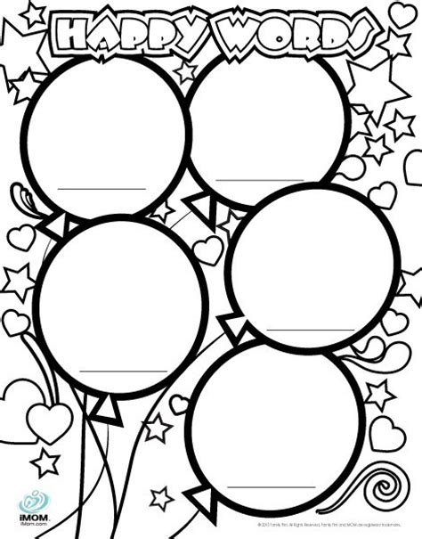 kind words coloring page happy words coloring page imom