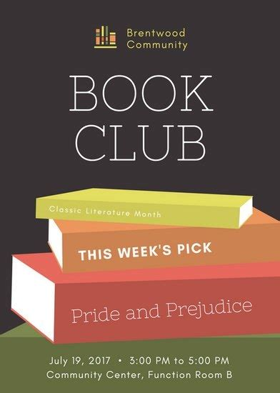 Book Club Flyer Template Word