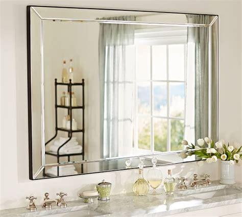pottery barn bathroom mirror astor double width mirror pottery barn