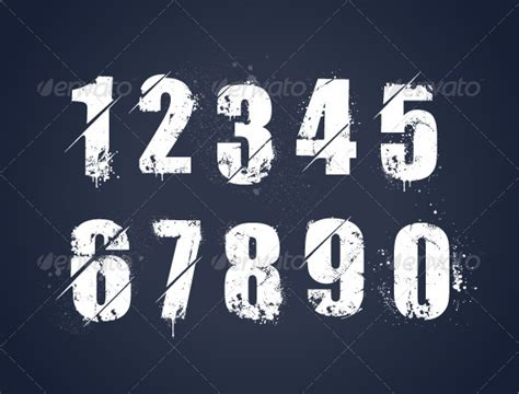 grunge spray paint font grunge painted numbers hardcast de