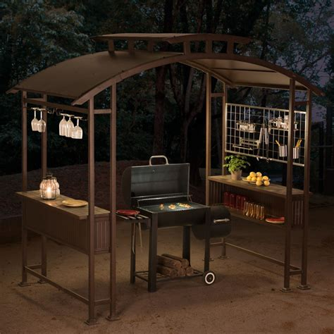gazebo shop sunjoy 8 x 5 ft mouton grill gazebo shop your way