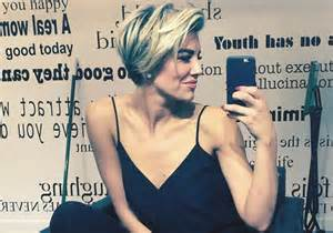new haircut charissa thompson get extra s charissa thompson new short pixie hair cut