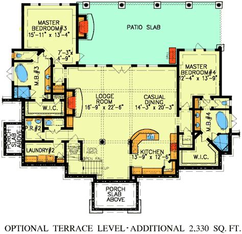 double master suite house plans dual master suites plus loft 15801ge architectural