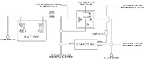 12v changeover relay wiring diagram circuit and