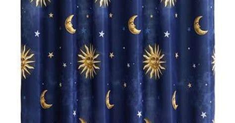celestial curtains 19 99 celestial sun moon and stars fabric shower curtain