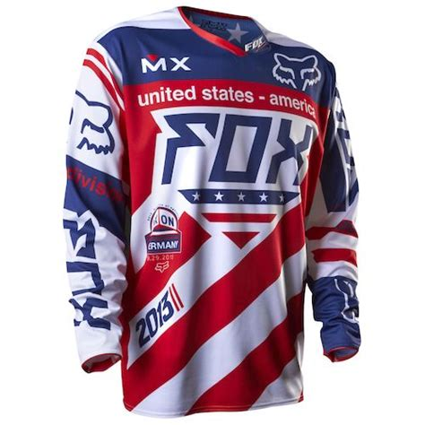 red white and blue motocross gear fox racing 360 intake mxon le patriot jersey revzilla