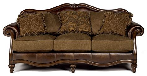 claremore antique sofa signature design by ashley claremore antique 8430338