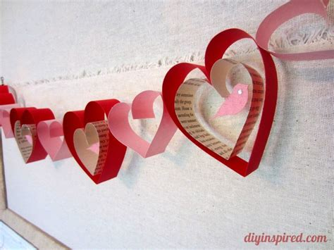 arts and crafts ideas for valentines day valentines day craft diy garland diy inspired