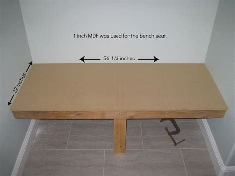 mud bench mudroom bench how to diy mdf for the house