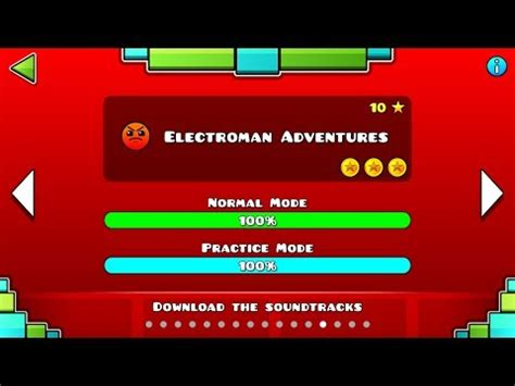 1405842776 level the adventures of geometry dash level 13 electroman adventures all coins