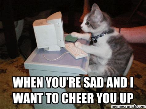 Cheer Up Cat Meme - when you re sad and i want to cheer you up