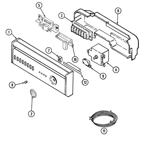 maytag dishwasher parts diagram maytag dishwasher parts model mdb6000awb sears partsdirect