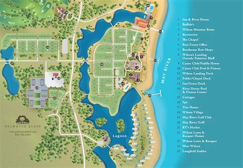 forresters resort map site map for palmetto bluff retirement home ideas