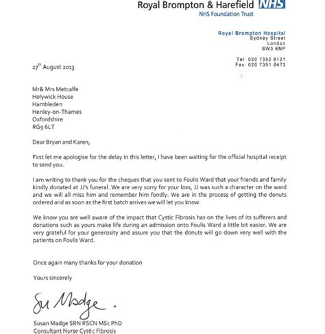 charity legacy letter charity legacy thank you letter charity number on