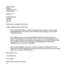 semi block formal letter format formal letter