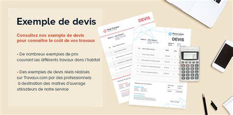 Devis Travaux by Travaux Visuel Exemple Devis 1 Travaux